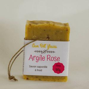 Savon argile rose