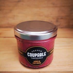 Crème de pois chiche betterave et coriandre