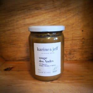 Soupe des Andes aux légumes, lentilles blondes et quinoa : 0,50l