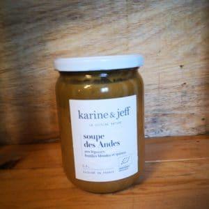 Soupe des Andes aux légumes, quinoa et lentilles blondes : 0,78l